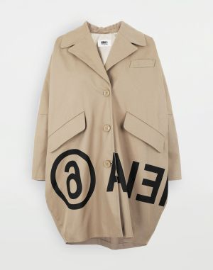 Mm6 By Maison Margiela Coats And Trenches Beige Cotton