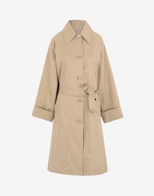 Mm6 By Maison Margiela Coats And Trenches Camel Cotton