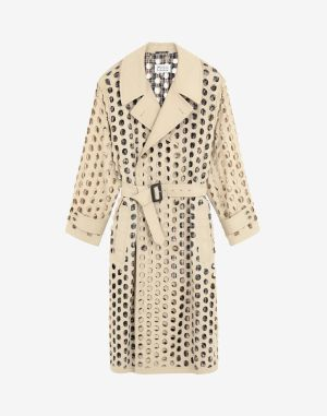 Maison Margiela Coats And Trenches Beige Cotton