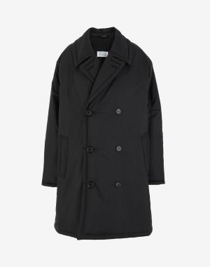 Maison Margiela Coats And Trenches Black Polyester
