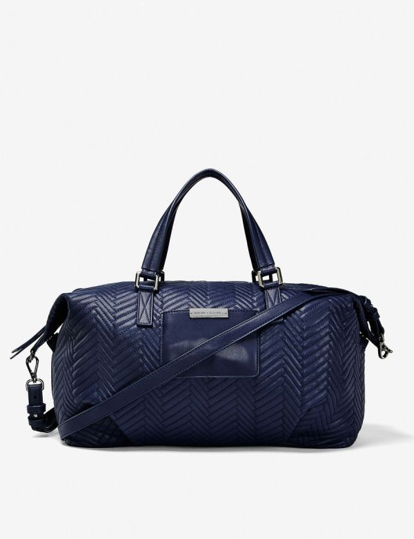 Armani Exchange Large Chevron Quilted Duffle Bag
