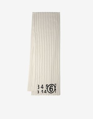 Mm6 By Maison Margiela Scarves And Stoles Ivory