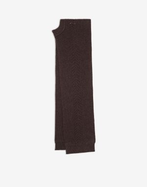 Maison Margiela Scarves And Stoles Dark Brown