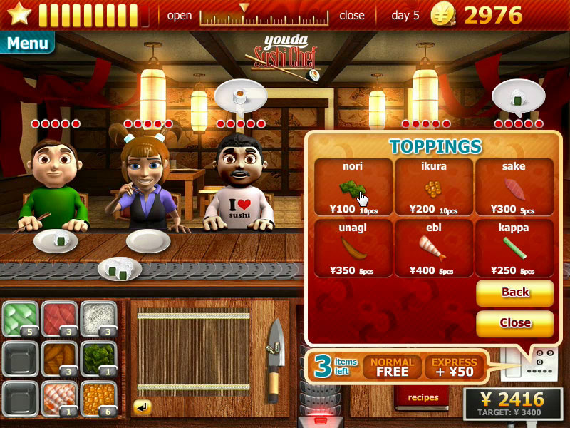 Restaurant Serving Games Free Online
