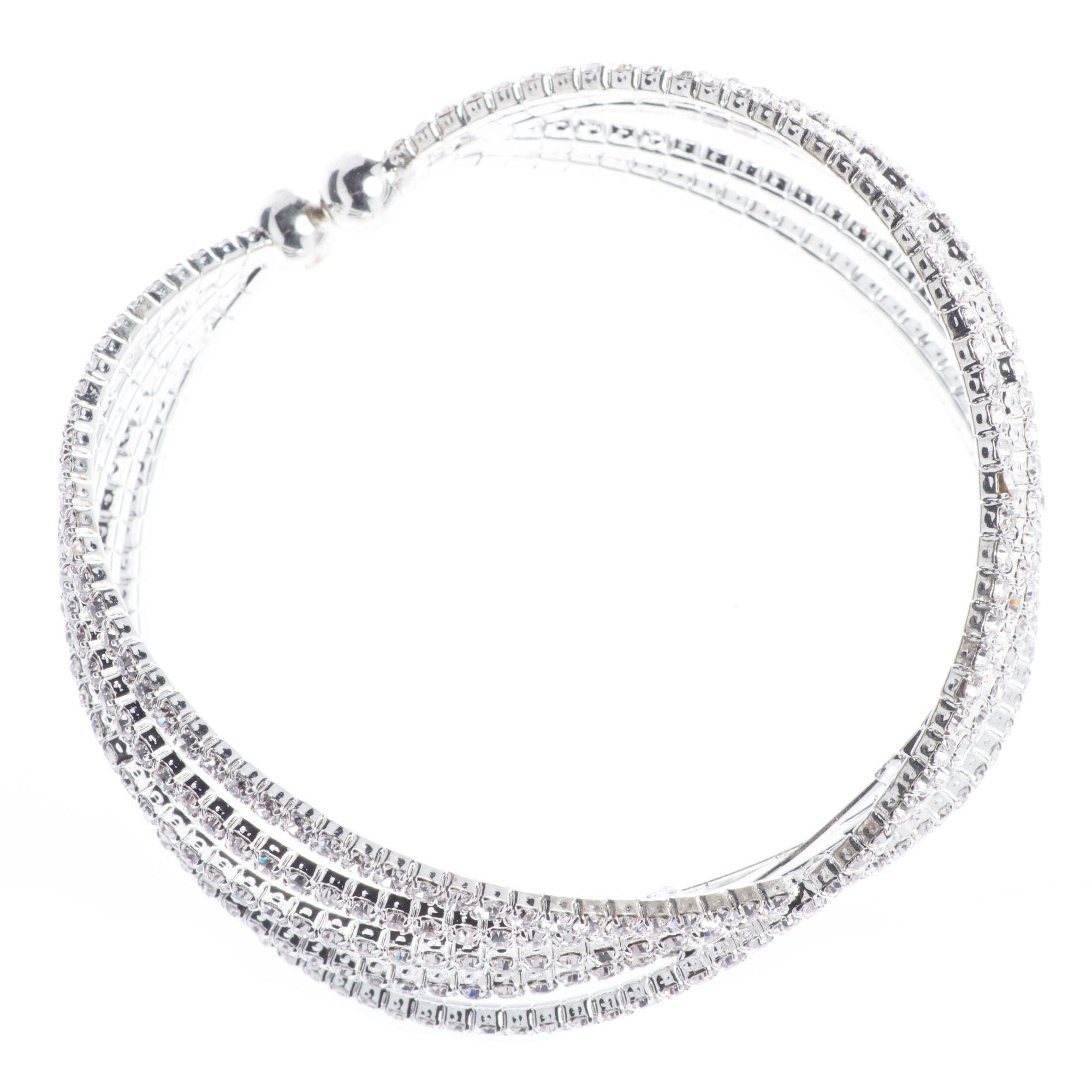 Jubilee Bracelet Multiple X Helix Bands of Diamond