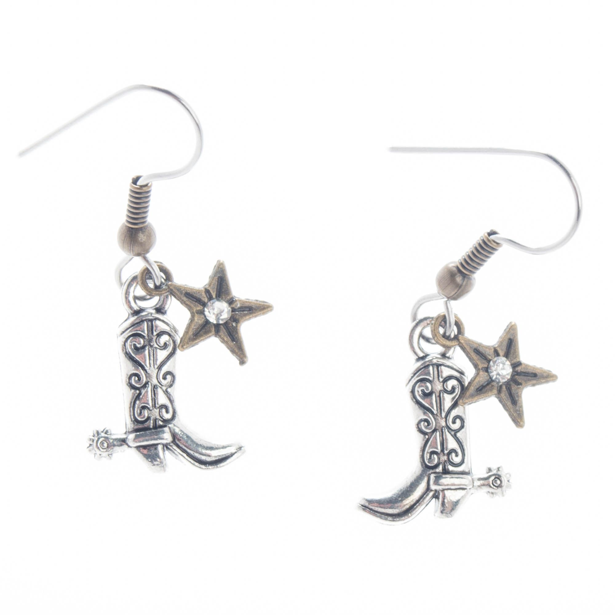 Angelz Design Rodeo Queen Jewelry Silver Plated Cowboy