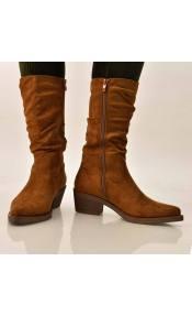 Γυναικείες μπότες suede τύπου western