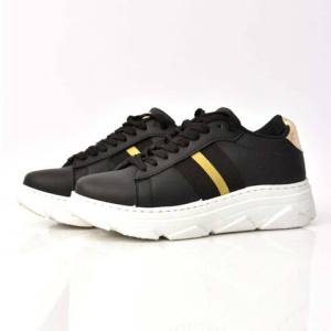 Γυναικεία sneakers με χρυσή λεπτομέρεια