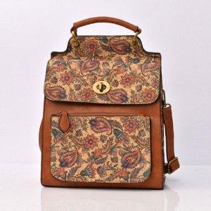 Γυναικεία τσάντα με λαχούρ σχέδιο