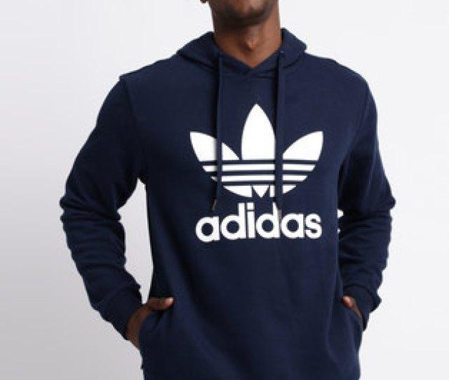 Adidas Mens Pullover Hoodie Collegiate Navy