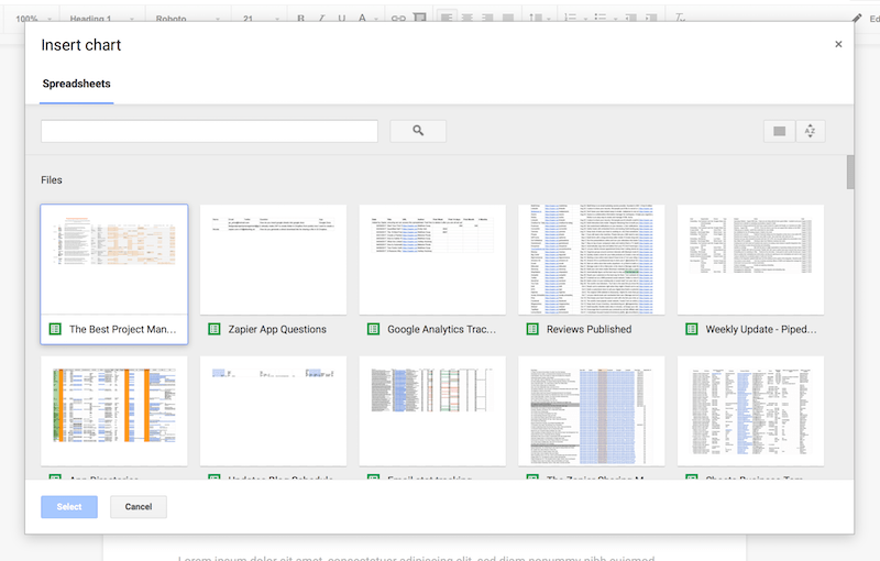 How to Insert a Google Sheets Spreadsheet into a Google Docs ...