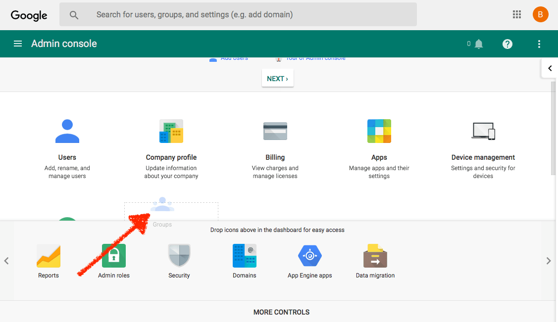 add Google Groups to your G Suite Admin