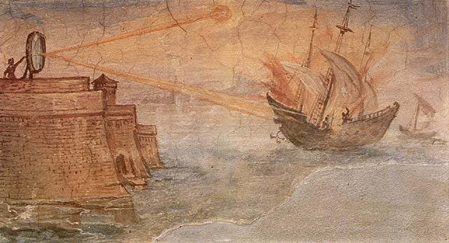 Wall painting from the Stanzino delle Matematiche in the Galleria degli Uffizi (Florence, Italy). Painted by Giulio Parigi (1571-1635) in the years 1599-1600.