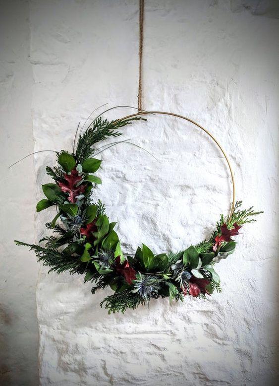 pinterest brass wreath