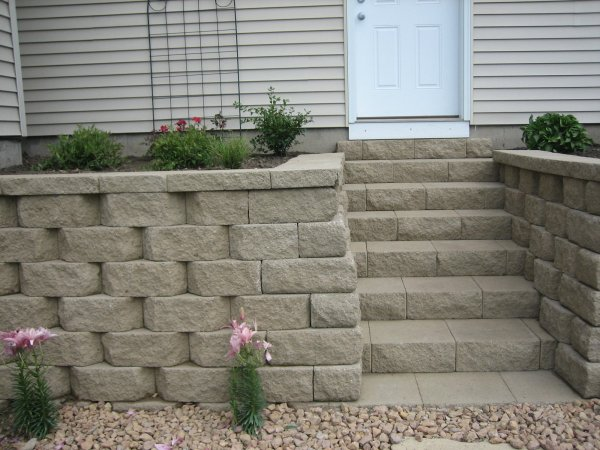 anchor retaining wall block