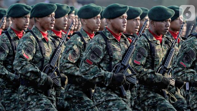 6.806 Prajurit Gabungan Ikuti Parade Upacara HUT ke-74 TNI