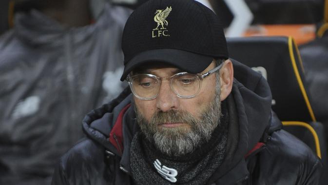 Pelatih Liverpool, Juergen Klopp,selalu melacak pergerakan Wilfried Zaha ketika timnya bertemu Crystal Palace. (AP/Rui Vieira)