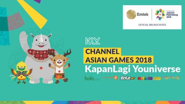 Jadwal Live Streaming Asian Games 2018 di KLY Channel ...