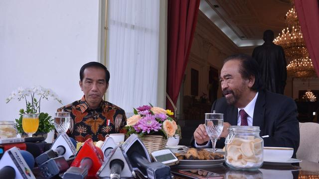 Jokowi Surya Paloh sarapan di Istana