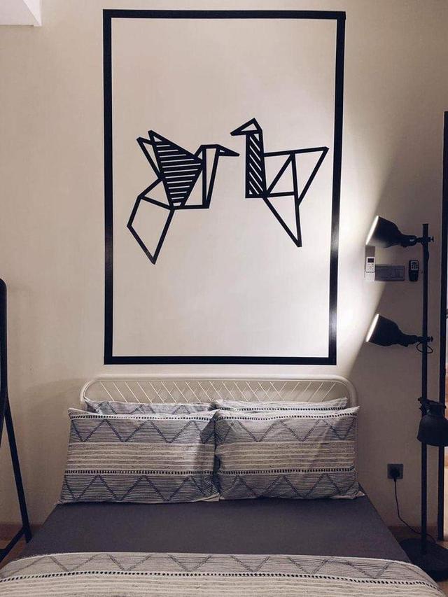 Gambar Keren Di Tembok : gambar, keren, tembok, Bermodalkan, Lakban,, Dinding, Rumah, Keren, Dengan, Biaya, Murah, Liputan6.com