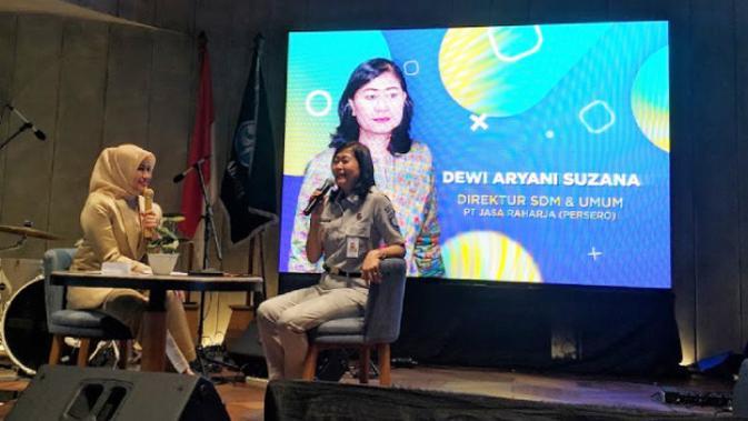 Dewi Aryani Suzana, Direktur SDM dan Umum Jasa Raharja. News/Iskandar