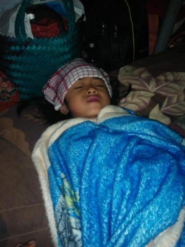 Anak-anak korban gempa Lombok mulai jatuh sakit. (Istimewa)