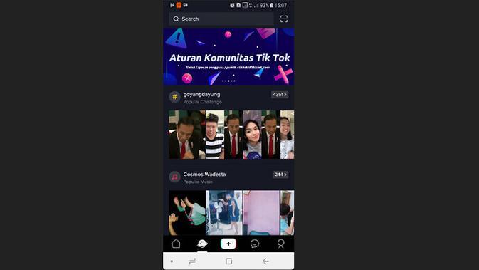 Aksi goyang dayung Presiden Jokowi yang kini viral di Tik Tok (screenshot Tik Tok)