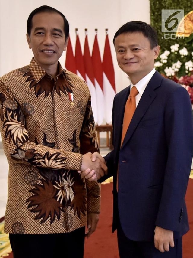 Jokowi Terima Jack Ma di Istana Bogor