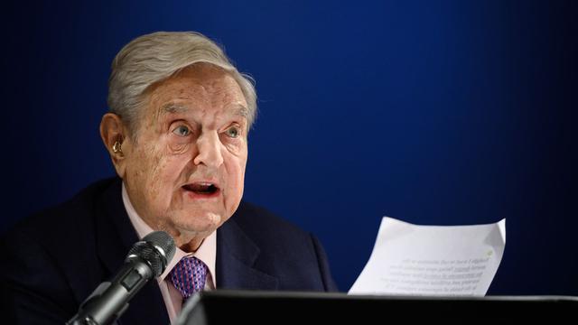 Miliarder sekaligus filantropis berpengaruh dunia, George Soros dalam agenda World Economic Forum 2019 (AFP/Fabrice Coffrini)
