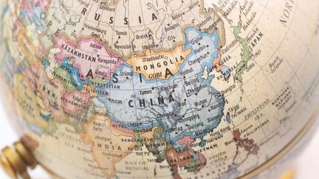 Ilustrasi Peta Dunia China