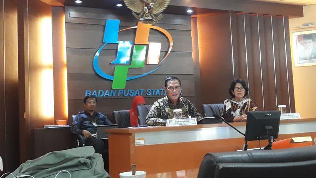 Kepala BPS Suhariyanto di Kantor Pusat Badan Pusat Statistik, Jakarta, Senin (24/6/2019).
