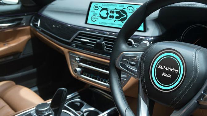 Ilustrasi mobil swakemudi atau self-driving car. (iStock)