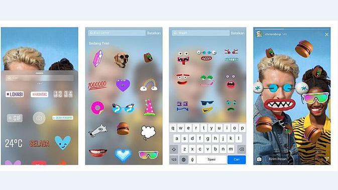 Stiker animasi GIF di Instagram Stories (Foto: Instagram)