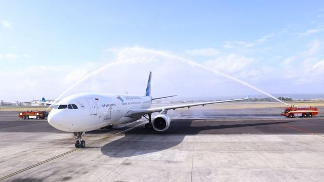 Garuda Indonesia resmi mengoperasikan penerbangan langsung Denpasar- Mumbai PP.