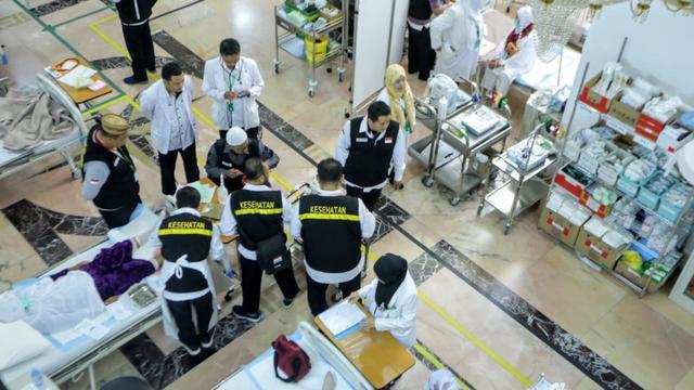 Penanganan Jemaah Haji Sakit di KKHI Makkah. Bahauddin/MCH