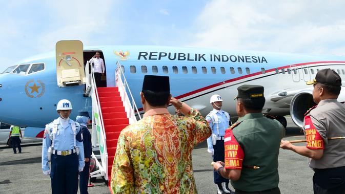 Presiden Joko Widodo atau Jokowi bertolak menuju Australia, Sabtu (8/2/2020). (Foto: Biro Pers Setpres)