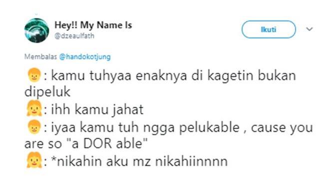 Cuitan gombalan (Sumber: Twitter/dzeaulfath)