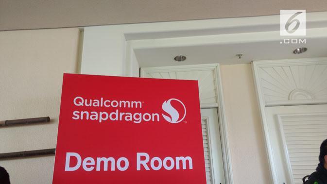 Ruangan khusus di Qualcomm Snapdragon Tech Summit 2017 di mana perusahaan mendemokan beberapa produk dan teknologi terbaru yang menggunakan Snapdragon 845. (News/Corry Anestia)