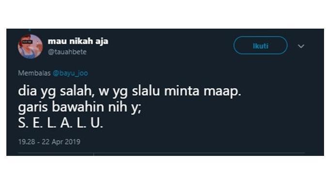 Curhatan Netizen Saat Jadi Bucin (Sumber: Twitter/@tauahbete )
