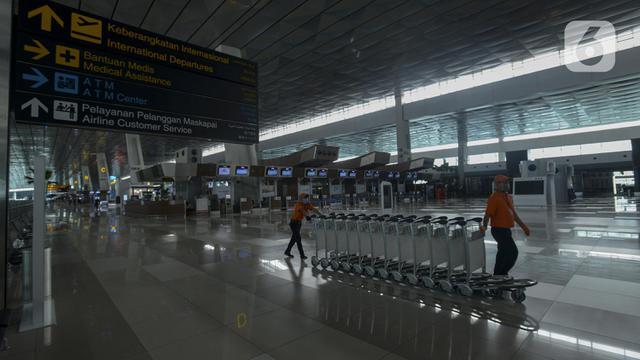 FOTO: Bandara Soetta Setop Penerbangan Penumpang Mulai Hari Ini
