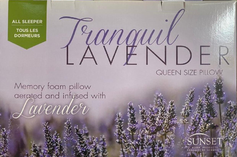 tranquil lavender memory foam pillow