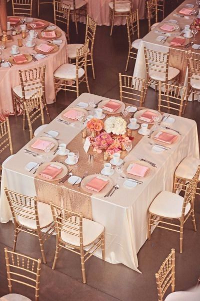 Combinaciones de colores en rosa blush gold y rose gold