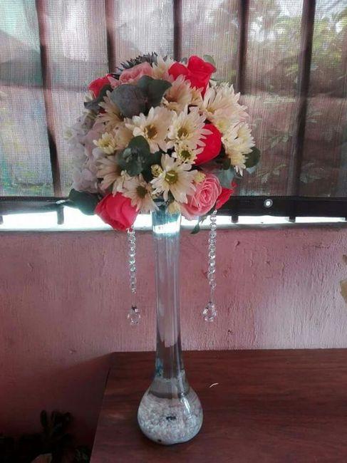 Centros de mesa altos flores naturales  Foro Organizar