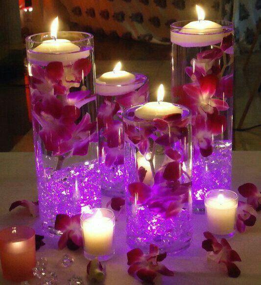 Led Light Centerpieces Wedding