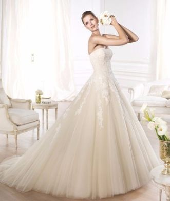 Resultado de imagen para vestido de novia en tono marfil