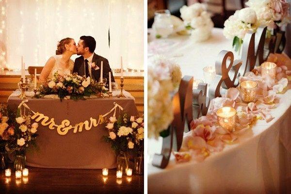 8 ideas modernas para decorar la mesa de novios  Foro