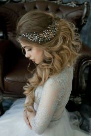 peinados semirecogidos para novia