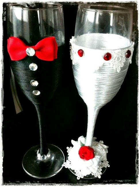 copas decoradas en blanco y negro  Foro Banquetes  bodas
