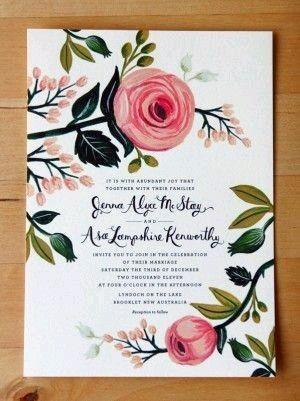 Invitaciones Con Flores!! Foro Organizar Una Boda
