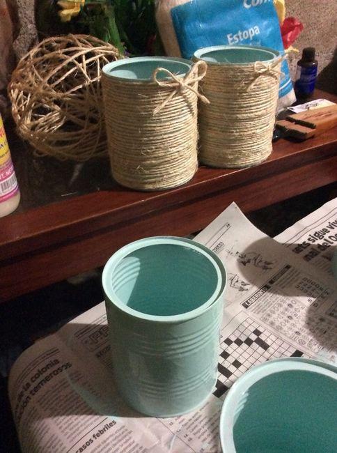 Centros de mesa reciclando  Foro Manualidades para bodas  bodascommx
